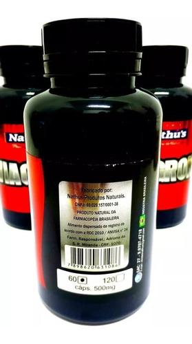 viagron maca extrato seco importado natural 500mg 60 cáps
