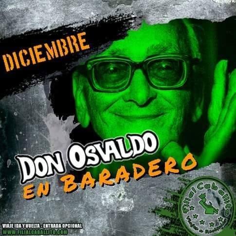 viaje ida y vuelta a don osvaldo en baradero + entrada 09/12