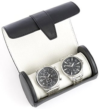 viajes royce ejecutivo reloj rollo de cuero auténtico suav