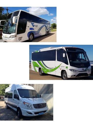 viajes traslados pasajero ómnibus micros bus van excursiones