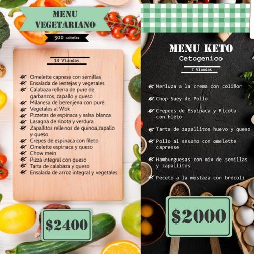 viandas saludables bajas calorías veget. cetogenico veganodb