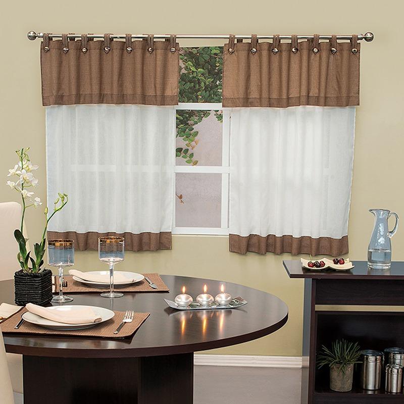 Vianney cortinas de cocina avellana 91243 envio gratis - Que cortinas poner en la cocina ...
