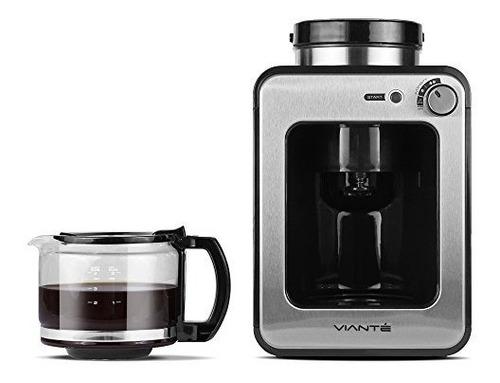 viante caf50 cafetera + molino de cafe electrico 4 tazas