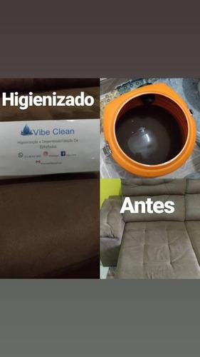 vibe clean higienização e impermeabilização de estofados
