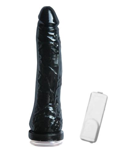 vibrador c/ ventosa bananin black - sex shop buenos aires