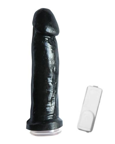 vibrador c/ ventosa superl black - sex shop buenos aires