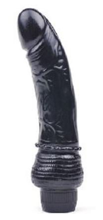 vibrador color negro 18 cms de largo x 3.5 cms de grosor igt