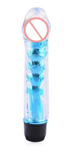 vibrador consolador masajeador jelly multispeed liso 18cm