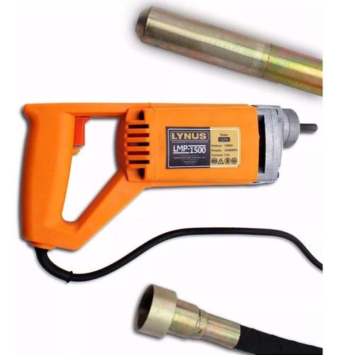 vibrador de concreto lynus lmp 1500 110 ou 220 v sem juros