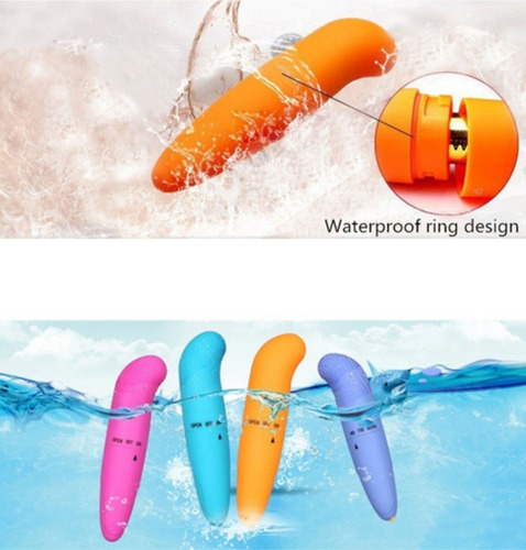 vibrador mini contra agua potente + anillo vibrador silicon
