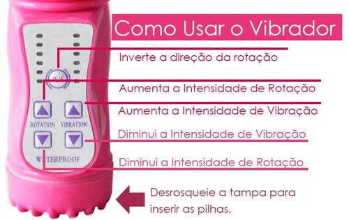 vibrador rotativo com estimulador coelho 10 vibrações passio