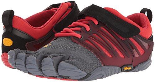 vibram men s v-train gris / negro / rojo cross trainer