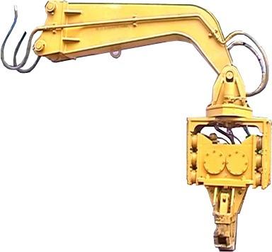vibro hincador jvh300 con brazo extensor para excavadoras