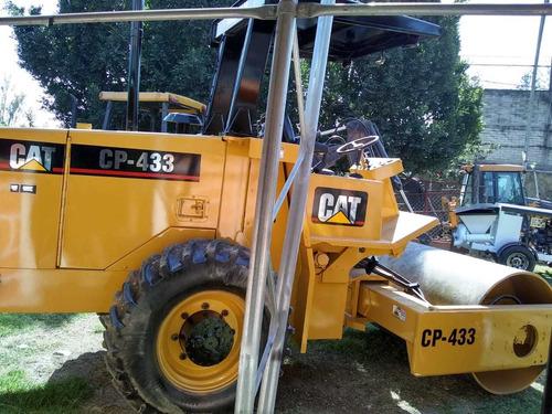 vibrocompactador cat cp433 año 2000