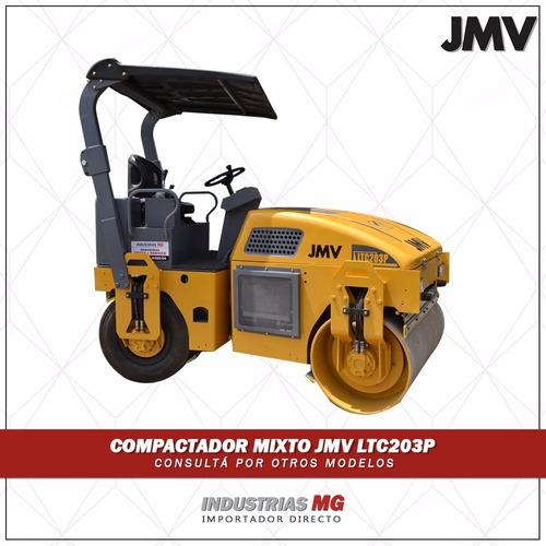 vibrocompactador mixto jmv ltc203p rodillo vial