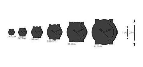 viceroy hombre 47617-55 negro ip cronógrafo reloj de goma