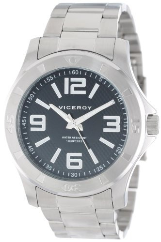 viceroy hombres 432203-55 sport reloj de pulsera de acero in