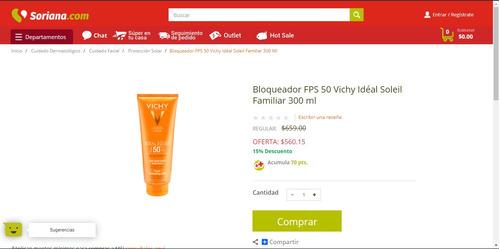 vichy laboratories ideal soleil fps 50+