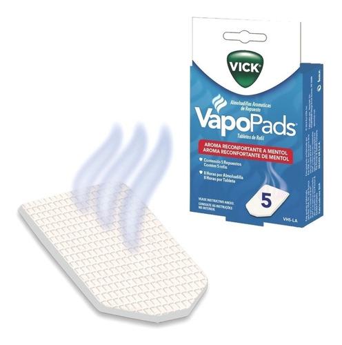 vick vapopad vh5-la 5 repuestos mentol para humidificador