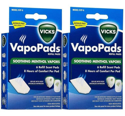 vicks vapopads - almohadilla de repuesto para vapores !