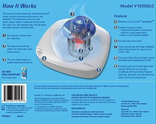 vicks vivero vaporizador de 1 galón con luz nocturna