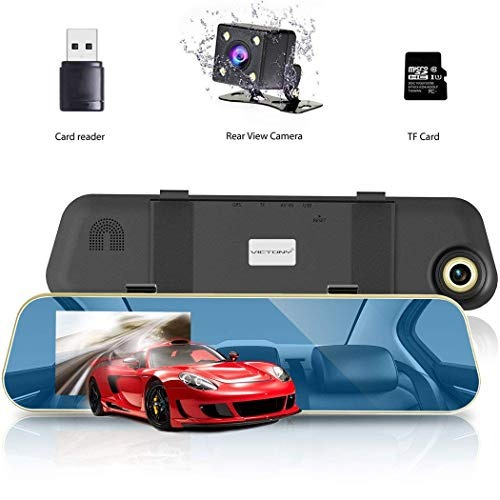 victony coche camara full hd 1080p 4.3  lcd espejo retroviso