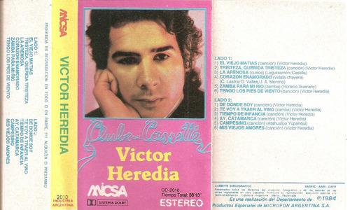 victor heredia - club del cassette -cassette- 1984
