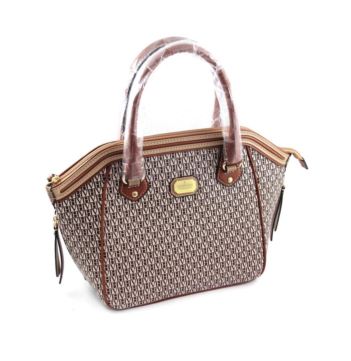 6b766340d1932 victor hugo leather goods bolsa original canvas couro. Carregando zoom.