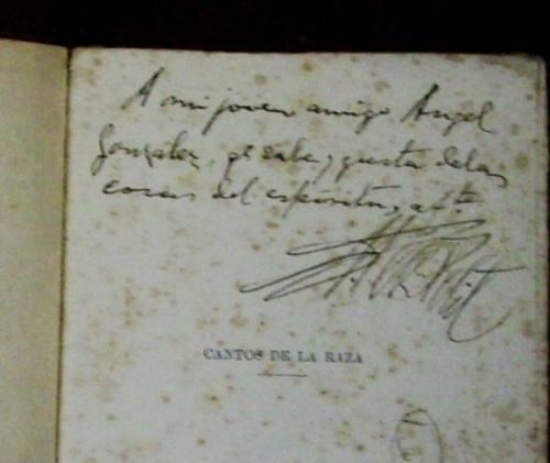 victor perez petit   cantos de la raza   1924 - autografiado