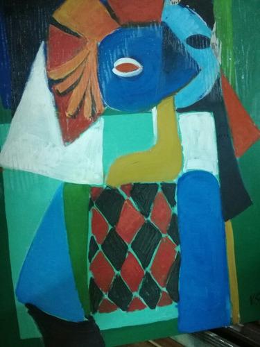 victor saul oleo estilo cubista y pintaba estilo van gogh