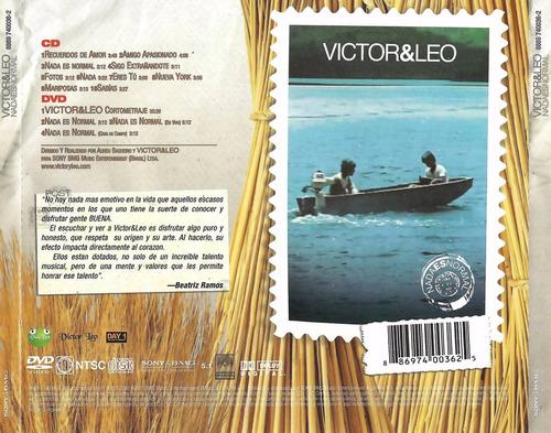 victor y leo nada es normnal cd y dvd nuevo sellado