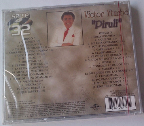 victor yturbe piruli serie 32 exitos cd doble nuevo sellado