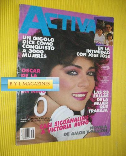 victoria ruffo revista activa 1985 estefania de mocano