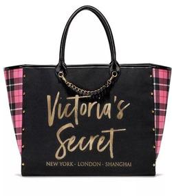 Doradas Con Letras Bolso Secret Negro Tote Victoria's 5RLj4A