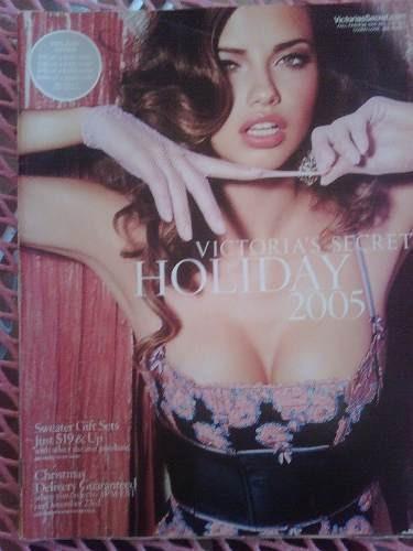 victorias secret catalogo 2005 adriana lima holiday pijamas