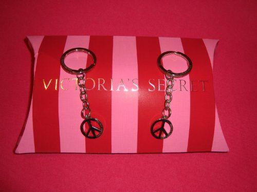 victoria's secret pink llavero símbolo paz envio gratis