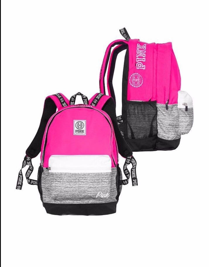 699e95754 Victoria's Secret Pink Mochila Bolso Nueva Temporada - $ 1.750,00 en ...