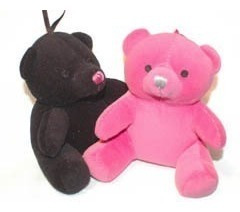 victorias secret pink teddy sweety bear color negro