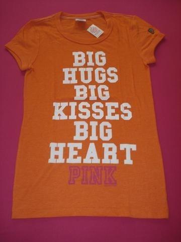 victoria's secret remera kisses pink  xs/s e.gratis cuotas!