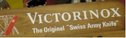 victorinox cartel original coleccion promocional ! -permutas