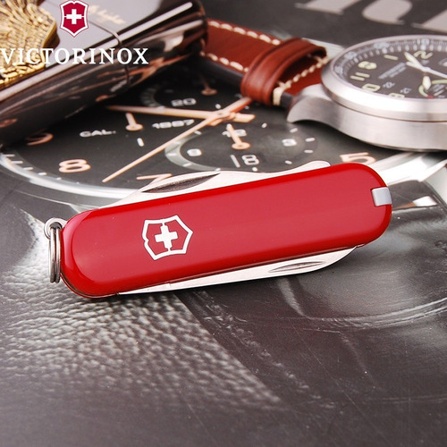victorinox navaja rally red 9 usos original suiza 23008
