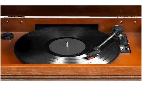 Victrola 7 In 1 Bluetooth Wooden Music Center Oak