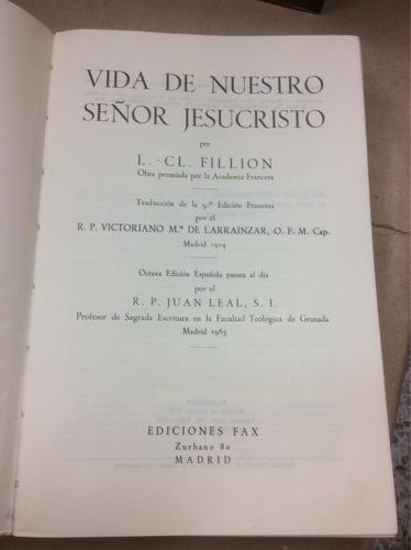 vida de nuestro señor jesucristo . cl fillion . teología