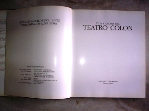 vida y gloria del teatro colon mujica lainez y aldo sessa