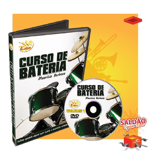 video aula edon curso de bateria vol 1