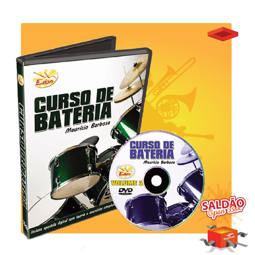 video aula edon curso de bateria vol 2