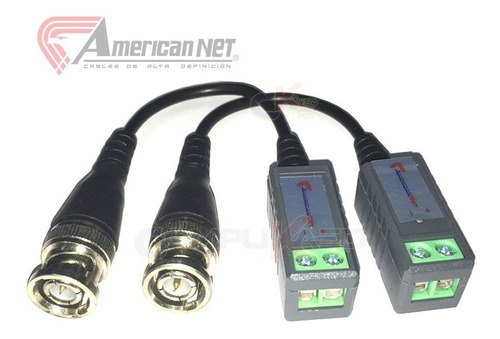 video balun cctv pasivo conector transmisor camara seguridad