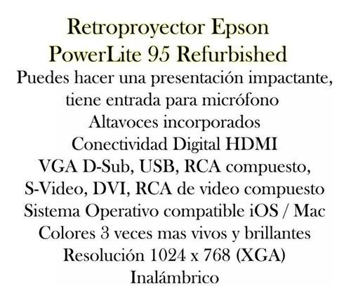 video beam epson powerlite 95 proyector hdmi vga inalambrico
