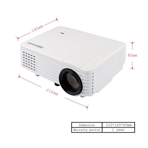 video beam proyector dbpower hdmi usb vga sd av dvd tv pc