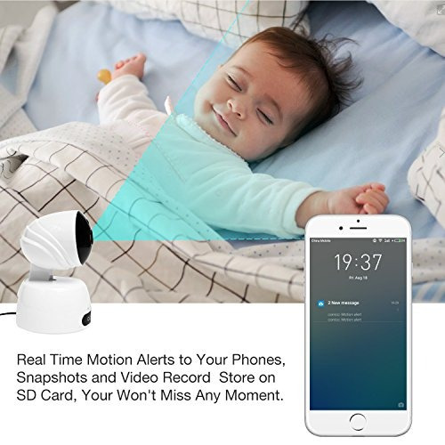 video bebé monitor conico 1080p inalámbrico wifi cámara vigi